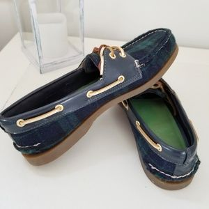 Sperry Top-Sider Plaid Boat Shoes